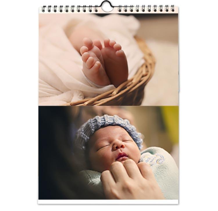 Un calendrier photo avec nos enfants qui grandissent