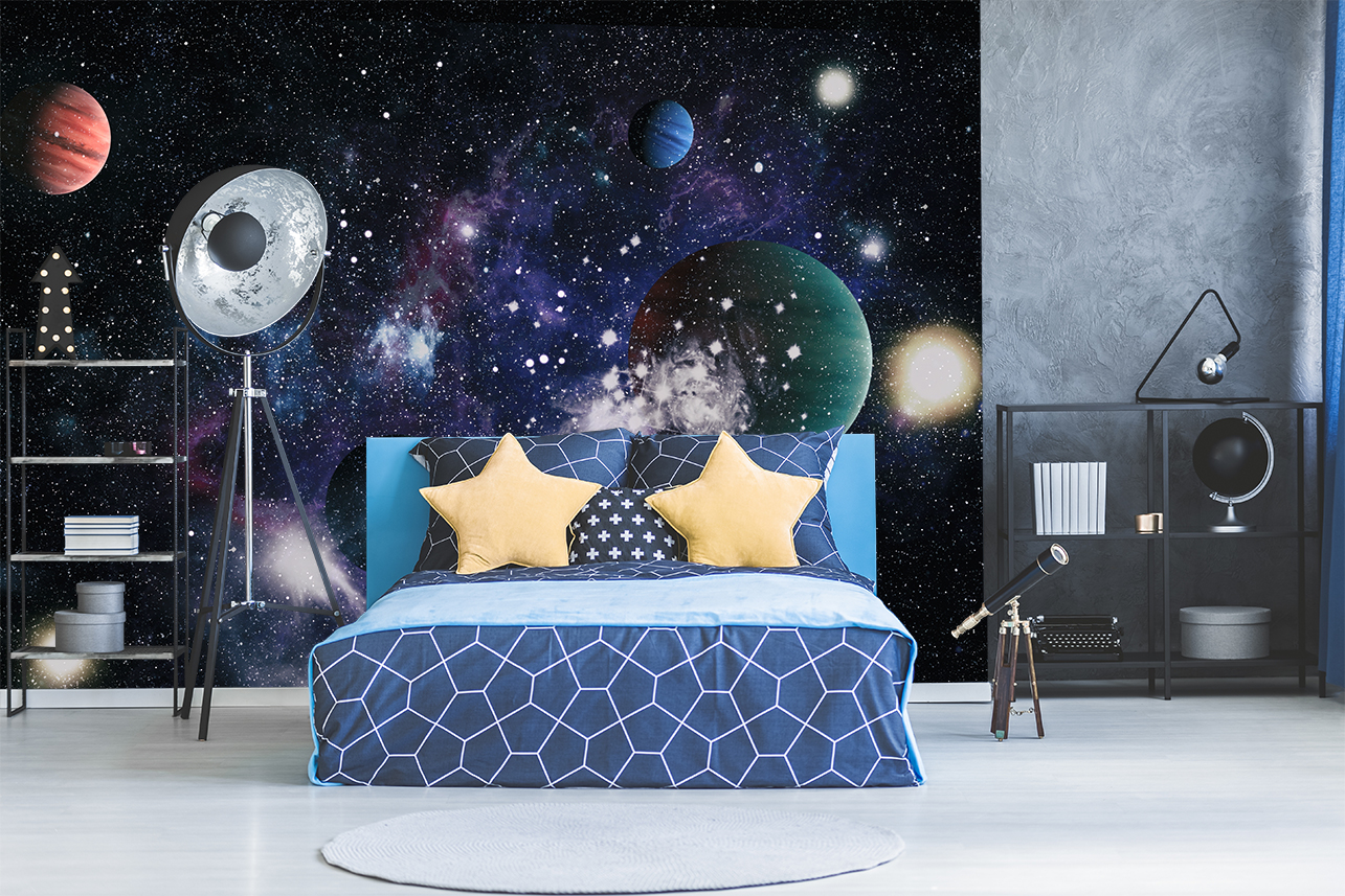 Dessin D Une Chambre D Enfant une déco de chambre d'enfant sur le thème de l'espace